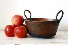 Antique Copper Apple Butter Kettle by ArcherDraw on Etsy, $254.00 Apple Butter, Antique Copper, Serving Bowls, Pear, Decorative Bowls, Kettles, Paddles, Fruit, Antiques