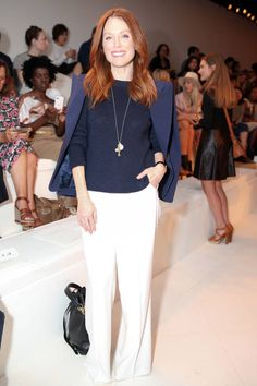 Julianne Moore lands on Derek Blasberg's Best Dressed of #NYFW. See which other celebrities made the cut here.