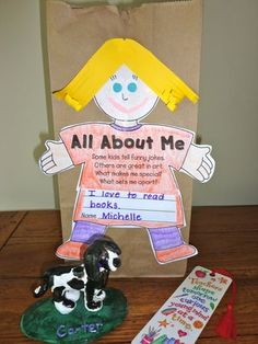 """Me in a Bag"". A great way to get know people. Maybe this can work for freshmen, as well. They are in a new school, after all..."