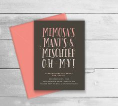 Printable Bachelorette  / Hens Party Invitation  by BonjourBerry                                                                                                                                                                                 More