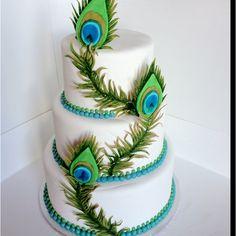 Peacock cake: Brittnissweetcakes.com