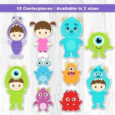 Monster Centerpiece, Monster Inc Centerpiece, Monster Cake Topper, Monster Wall Decor
