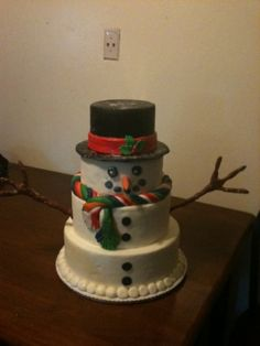 Snowman Cake By EvilCupcake on CakeCentral.com