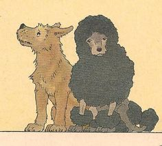 bumble button: 1930's book illustration, vintage dogs