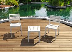 Compamia Ocean Square Resin Side Table in White Outdoor Areas, Outdoor Chairs, Outdoor Furniture Sets, Outdoor Decor, Furniture Chairs, Square Side Table, White Side Tables, Cup Conversion, Restaurant Furniture