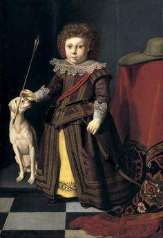 1620 Thomas de Keyser (Dutch painter, c. 1596–1667) Portrait of a Young Boy with his dog