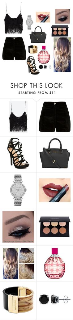 """Family party"" by casey-smith14 ❤ liked on Polyvore featuring beauty, Zara, River Island, MICHAEL Michael Kors, Michael Kors, Fiebiger, Jimmy Choo and BERRICLE"