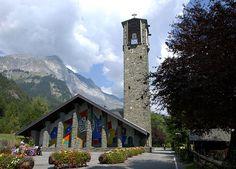 Eglise Notre-Dame-de-Toute-Grâce dite église Notre-Dame-de-Toute-Grâce du plateau d'Assy - Passy. Rhône-Alpes