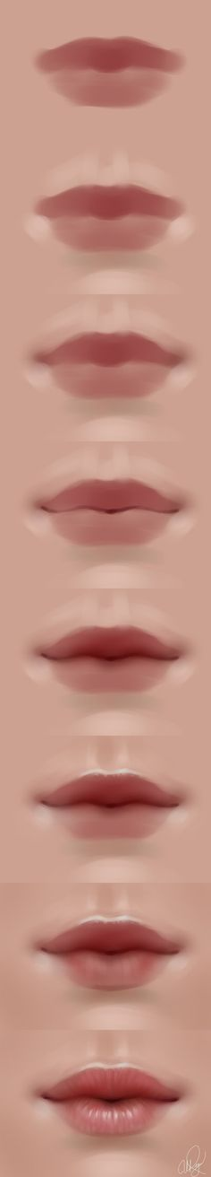 Delineate Your Lips - lips walkthrough by adelenta. - How to draw lips correctly? The first thing to keep in mind is the shape of your lips: if they are thin or thick and if you have the M (or heart) pronounced or barely suggested. Digital Painting Tutorials, Digital Art Tutorial, Painting Tips, Art Tutorials, Drawing Tutorials, Body Painting, Painting Art, Mouth Painting, Lips Painting