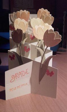 Card per la mamma! Ho seguito le indicazioni presenti nel blog di www.lacoppiacreativa.com e ho utilizzato la splendida fustella dei tulipani!!