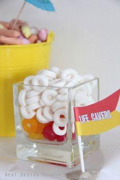 Life savers for beach theme dessert table