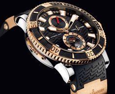 Ulysse Nardin Men's Maxi Marine Diver Chronometer Luxury Watch Swiss Luxury Watches, Luxury Watches For Men, Stylish Watches, Cool Watches, Men's Watches, Fancy Watches, Big Face Watches, Le Locle, Luxury Blog