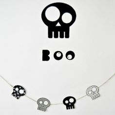 Crafts for Halloween, skull template