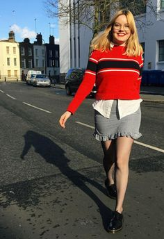 For a hint of print, make like ASOS Insider Lotte and go for a gingham mini with a divine ruffle hem. Team with a white shirt and layer over a bold jumper for a splash of colour. Finish by clashing up the pretty with some chunky Dr Martens