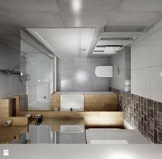 Mała łazienka z szarą cegła - Łazienka, styl nowoczesny - zdjęcie od All Design Agnieszka Lorenc