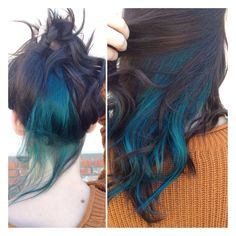 Vibrant teal. Achieved by mixing Joico's Cobalt Blue & Peacock Green Color Intensity.