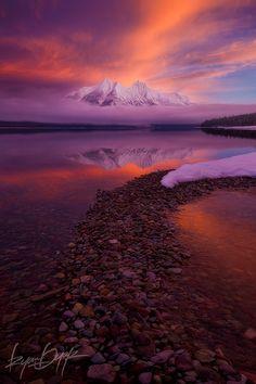 Sunrise - Stanton Mountain and Lake McDonald, Glacier National Park, Montana