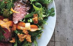 Steak Salad with Caraway Vinaigrette and Rye Croutons All the flavors of a steak sandwich on rye, but in salad form. #BonAppetit