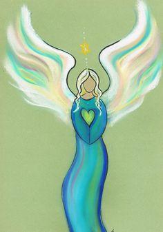 Anastasia…een intuïtieve engelentekening. Wil jij er ook eentje? Ga naar www.angelsco.nl Anastasia a personalized angel drawing…want your own? Please visit www.angelsco.nl