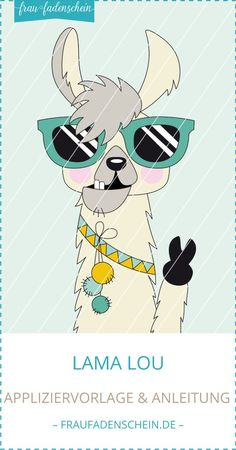 Applikationsvorlage Lama Lou  -  #applikationsvorlage Alpaca Illustration, Cartoon Llama, Funny Llama, Alpacas, Llama Decor, Llama Arts, Diy Canvas Art, Stone Painting, Rock Art