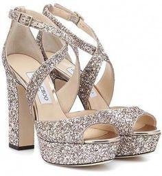 ffd83a32acbe Jimmy Choo - April Metallic Crinkled-leather Platform Sandals - Gold ...