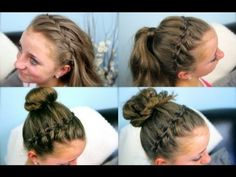 If you love the Waterfall Braid, try using it as a headband in 4 super-cute hairstyle combos! {Video tutorial here...} #WaterfallBraid  This is one of mine and brook's fav hair styles