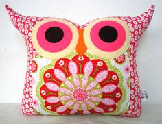 NEW// Polyfil Stuffed flower heart  2 owl by fongstudio on Etsy, $24.00