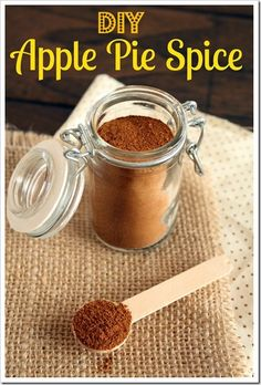 DIY Apple Pie Spice -just the other day I saw this listed as ingredient and thought surely that's something you can mix up yourself!