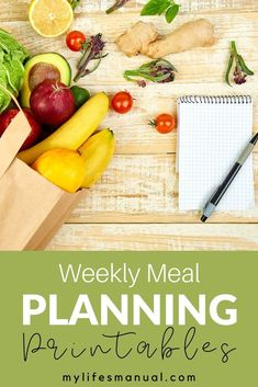 Free Weekly Meal Planner with a Grocery List, Instant Pot Recipes and a Simple Meal Planning PDF Guide Food Budget, Budget Meal Planning, Meal Planning Printable, Budget Meals, Budget Recipes, Family Meal Planner, Free Meal Planner, Healthy Weekly Meal Plan, Low Carb Meal Plan