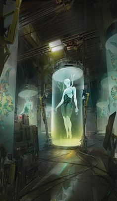 The superb science fiction and fantasy themed creations of Yujin Choo, a freelance concept artist and digital illustrator based in the United States. Sci Fi Kunst, Cyberpunk Kunst, Arte Sci Fi, Sci Fi Art, Sci Fi Fantasy, Fantasy World, Fullhd Wallpapers, Illustration Fantasy, Science Fiction Kunst