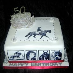 A 50th Birthday cake for my lovely daughter. A rich chocolate cake with 2 chocolate buttercream fillings.