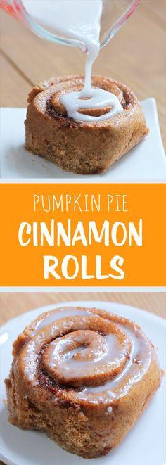 Pumpkin Cinnamon Rolls - Ingredients: 1 cup pumpkin, 2 tsp vanilla extract, 2…