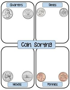 free coin sorting template kinderland collaborative pinterest coins and sorting. Black Bedroom Furniture Sets. Home Design Ideas