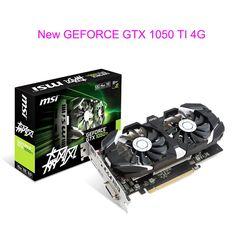 GAMING 4Gb Video Card For MSI GEFORCE GTX 1050 TI 4G Graphics Card For NVIDIA GPU PCI-E3.0 DVI+HDMI+DP 2Fans Transcend GTX960 //Price: $328.82//     #gadgets