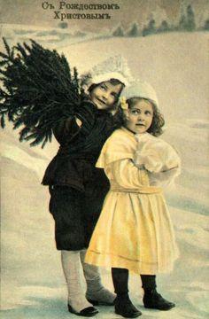 Русские дореволюционные рождественские и новогодние открытки | СПЛЕТНИК