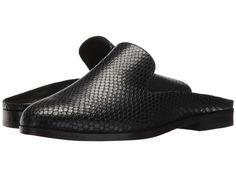 55918c1e7 Donna Karan Mott Mule Women's Clog/Mule Shoes Black Embossed Snake Leather