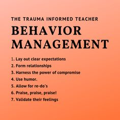 Behavior Management        Part 2 - The Trauma Informed Teacher
