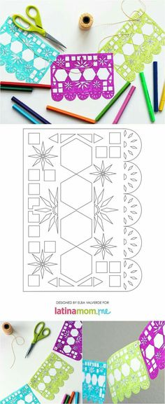 Day of the Dead Printable Papel Picado - Latina Mom Tips & Advice Mexican Birthday, Mexican Party, Mom Birthday, Holidays Halloween, Halloween Party, Make Your Own Banner, Day Of The Dead Party, Mexican Crafts, Trunk Or Treat