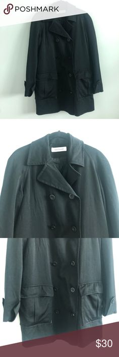 Isaac Mizrahi | Peacoat | Black | L/XL EUC double-breasted peacoat from Isaac Mizrahi. Slight wear around pockets (pictured) and missing belt strap, reflected in price :) size Large/ X-Large Isaac Mizrahi Jackets & Coats Pea Coats Fashion Tips, Fashion Design, Fashion Trends, Double Breasted, Leather Jacket, Pockets, Belt, Coats, How To Wear