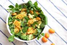Watercress salad with kumquat dressing http://www.letit.info/archives/25.html