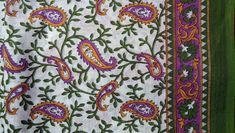 Paisley Leaves Art Deco Floral 100/% Cotton Poplin Fabric Craft Material