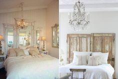 Schlafzimmer Ideen Für Bett Kopfteil Selber Machen Aus Alten Holztüren