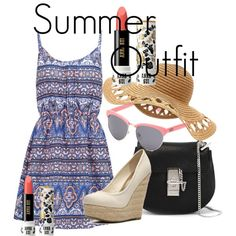 Summer Outfit by snowflake1025 on Polyvore featuring polyvore fashion style New Look Madden Girl Chloé Vans Anna Sui