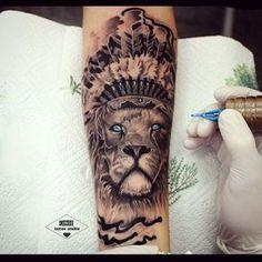#lion #drozdovtattoo #tattooinstartmag #tattoostyle #chicano #tattooart…