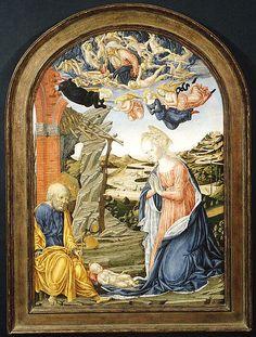 The Nativity - tempera su tavola - Francesco di Giorgio Martini (1439-1501)…