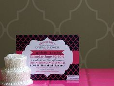 Printable 5X7 Modern Bridal Shower Invitation...by Party Like Paula. $15.00, via Etsy.