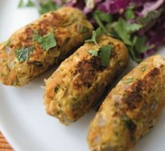 Spicy chickpea koftas with Indian slaw | Healthy Food Guide