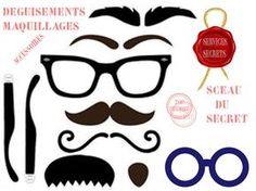 Free Print and Cut Disguise Kit ~ cute for a mustache party or a spy party Photos Booth, Photo Booth Props, Diy Fotokabine, Diy Crafts, Spy Birthday Parties, Retirement Parties, Teen Parties, Happy Retirement, Birthday Games