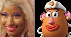 Mrs Potato Head  cartoon-real-life-lookalikes