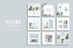 Rigel Social Media Pack - Web Elements